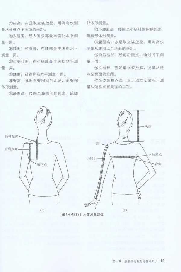 服装平面结构制图原理与技术