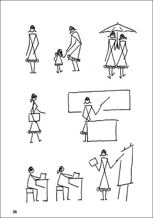 《简笔画人物画法》从最简单的线条训练入手