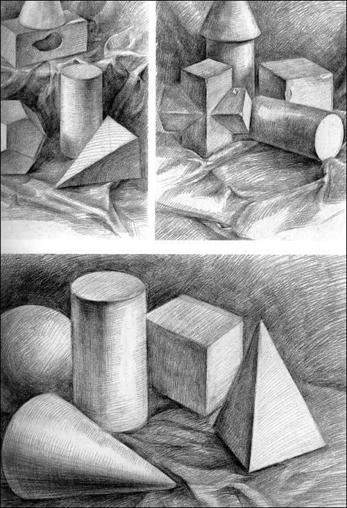 展示素描圆柱体图片图片