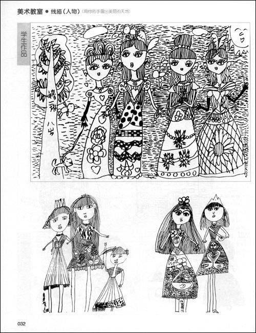 国外大师线描画作品-上鲁迅美术学院的文化分跟美术分要多少