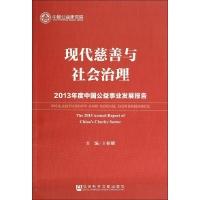现代慈善与社会治理:2013年度中国公益事业发展报告