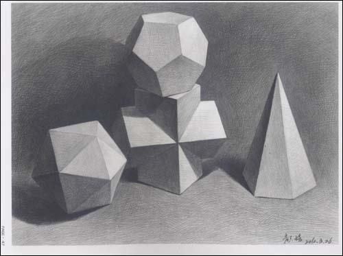 收录了颜培近期的石膏几何形体作品,书中有以结构几何体形式的范画