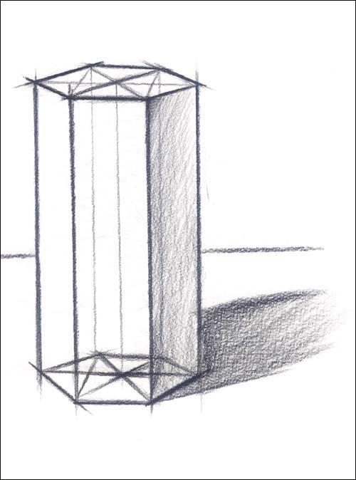 圆柱体结构素描步骤画法